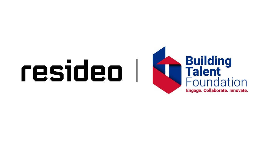 A Resideo Building Talent Foundation logo.