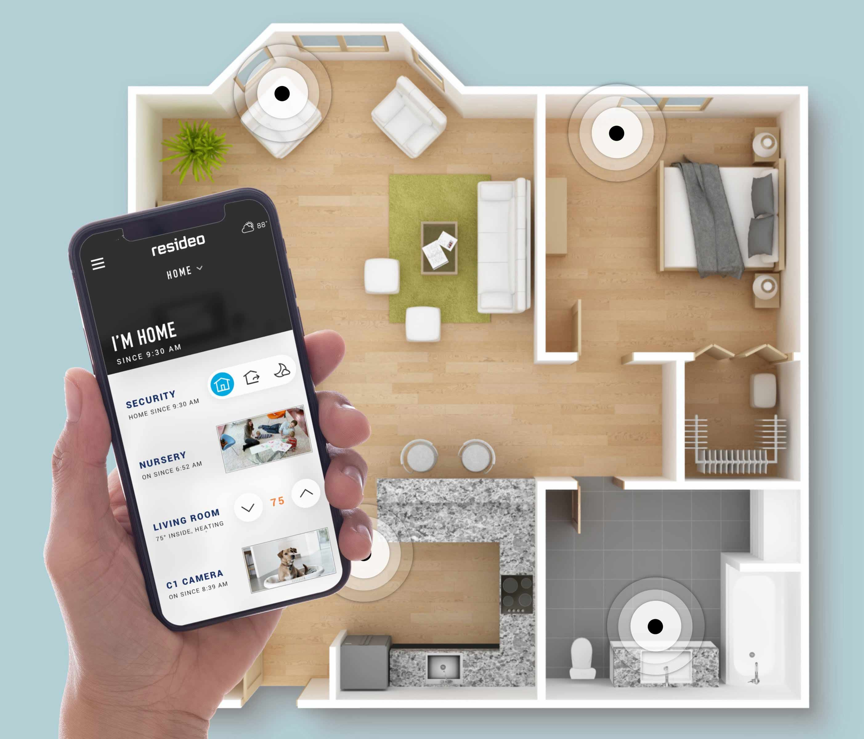Resideo's smart home devices and systems create a safe & connected home with Honeywell and Buoy products.