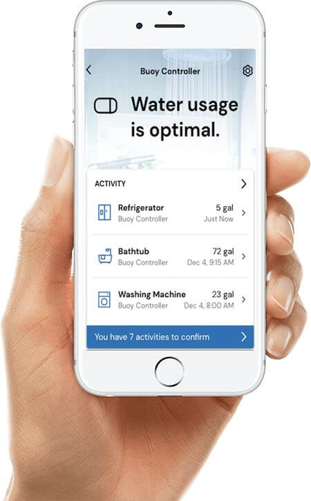Water Usage Resideo Home App