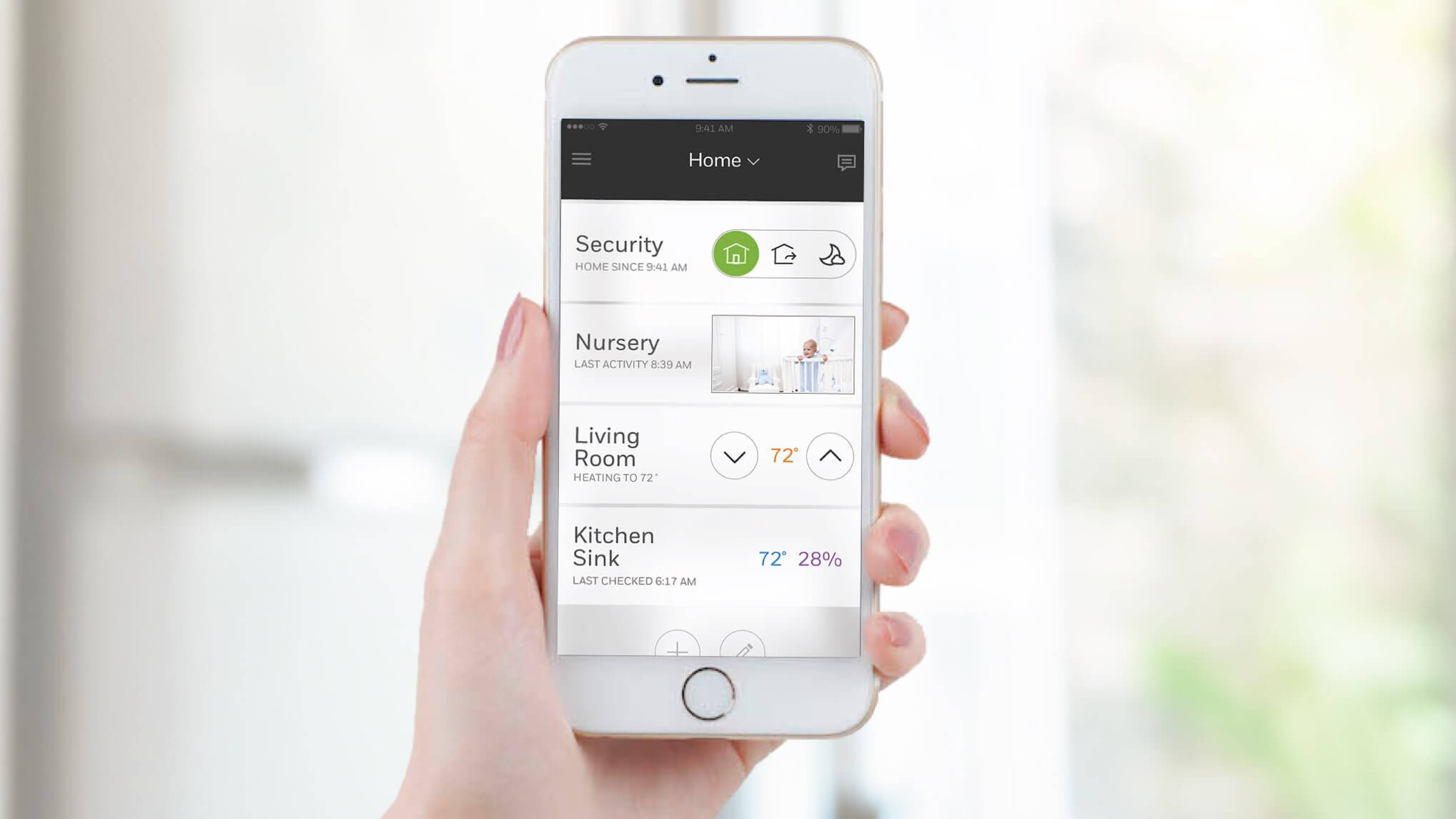 The Honeywell Home app has a one-touch dashboard to get updates on your connected devices.