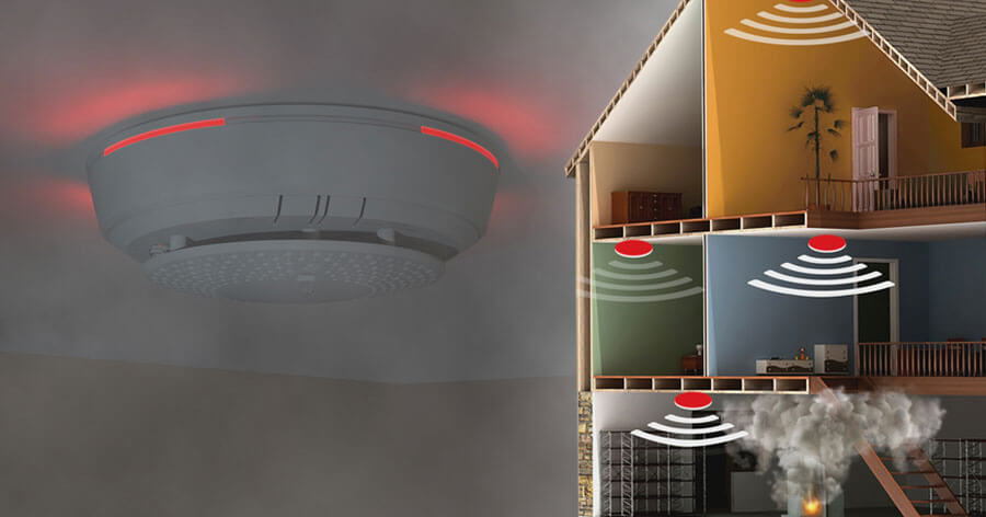 Resideo's SiXCOMBO, is the industry's first two-way, professionally monitored, wireless, combination smoke/heat and CO detector.
