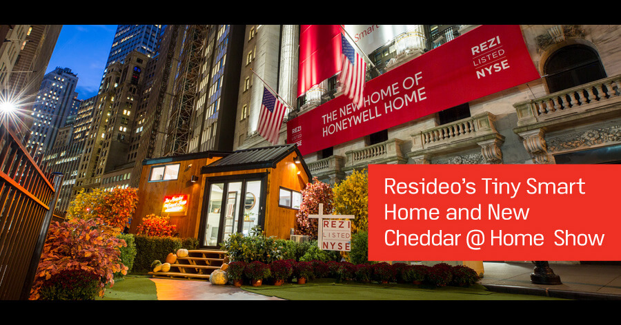 Resideo's Tiny House on display at the New York Stock Exchange