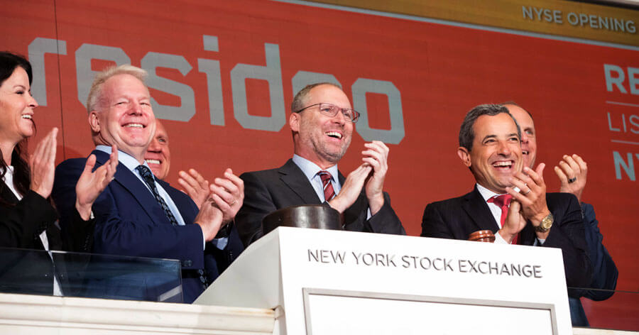 (Resideo rings the NYSE opening bell on Aug. 8, 2019. Photo courtesy NYSE.)