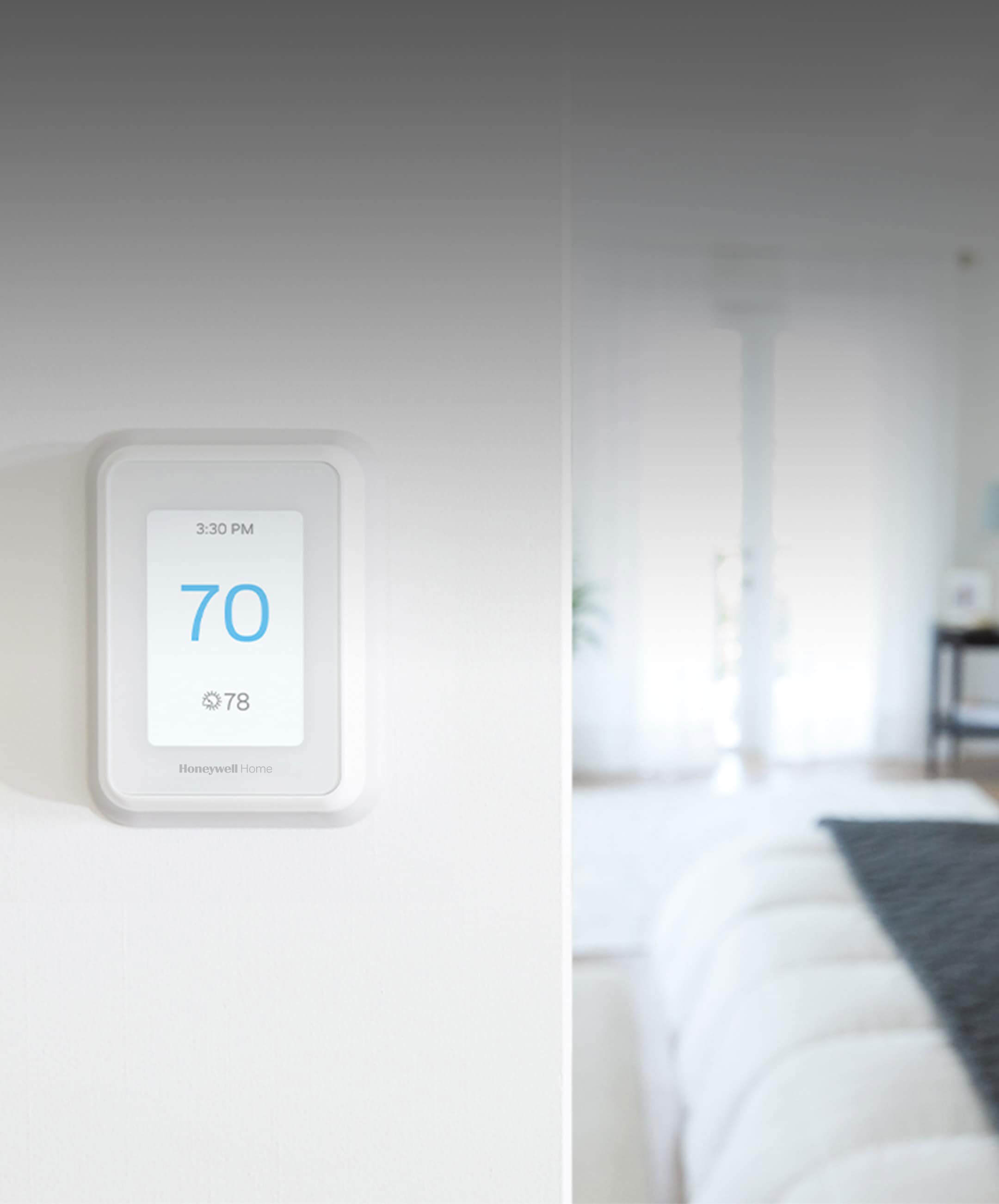 Control the airflow in your home with a smart home thermostat.