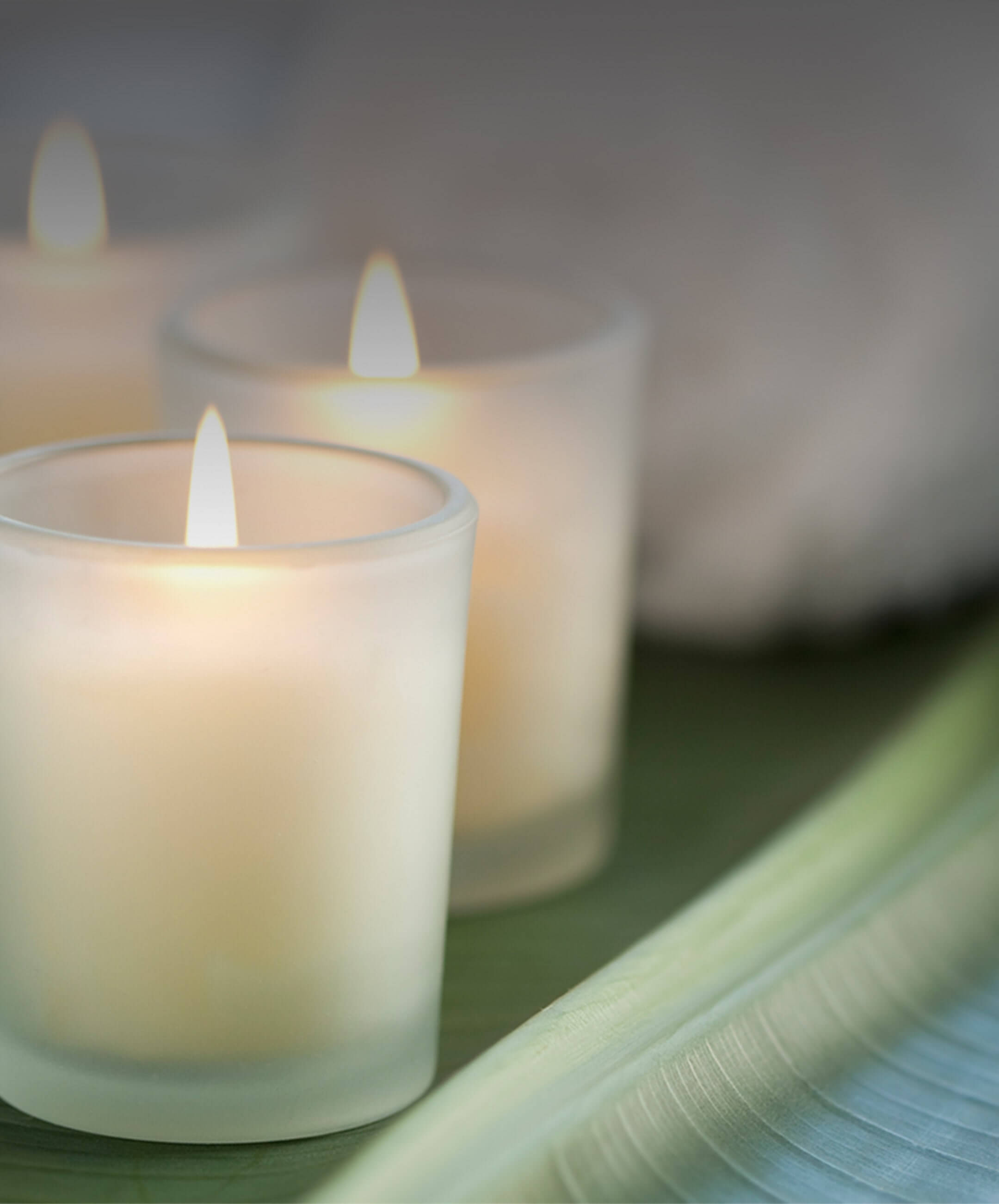 Scented candles can cover up odors, while an air purifier can help the source of the problem.