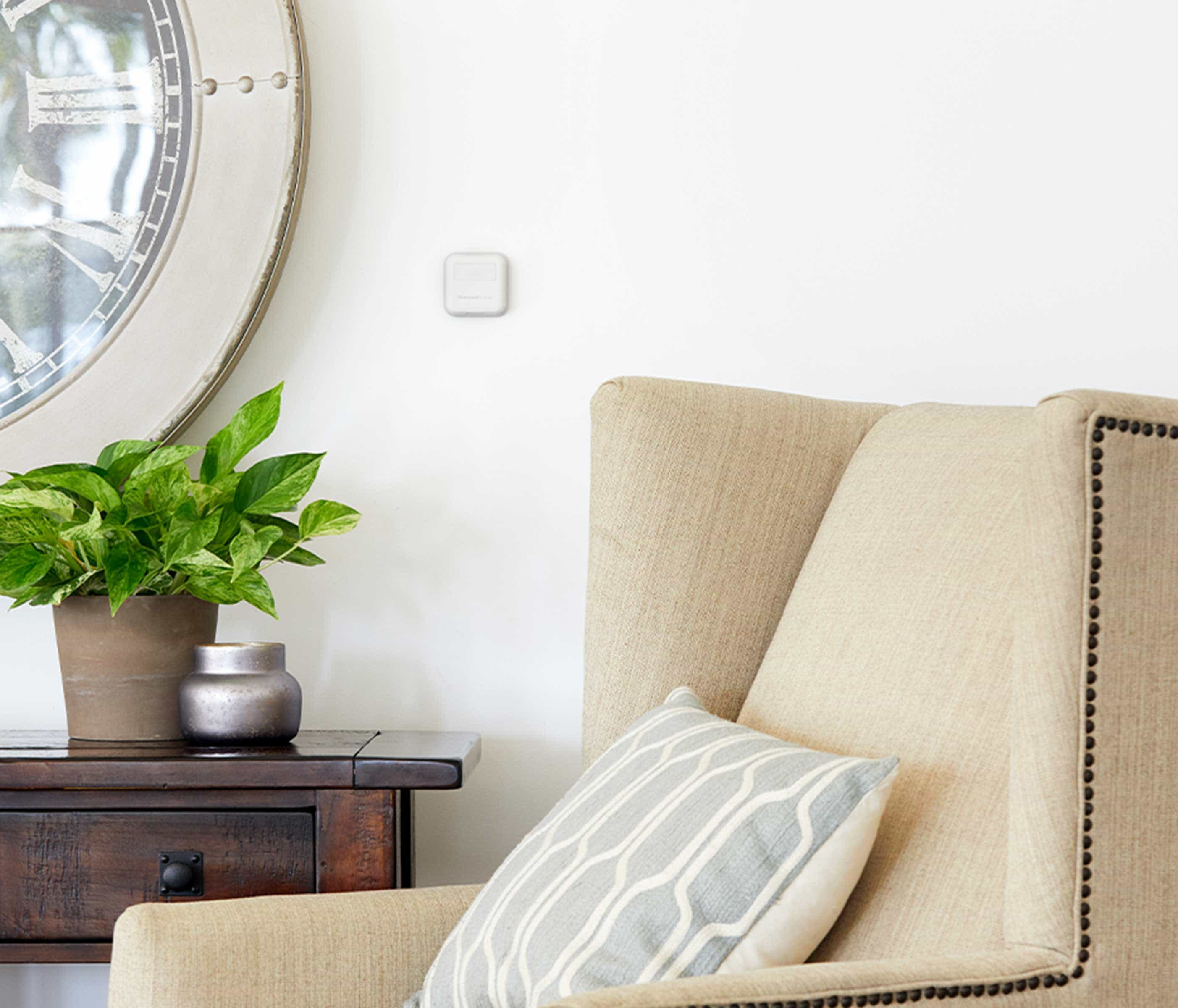 Control comfort levels in every room with room sensors