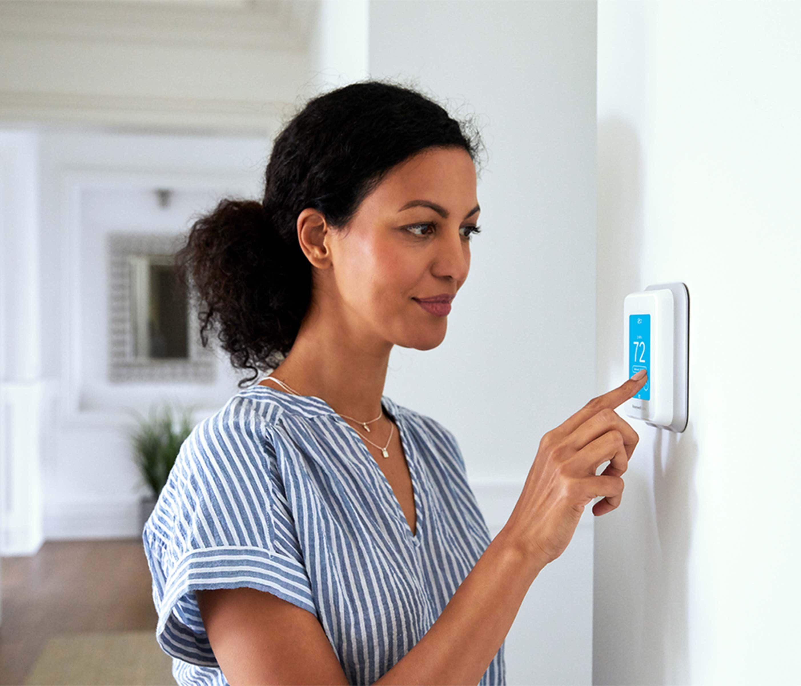 Control airflow and energy in your home with a smart home thermostat.