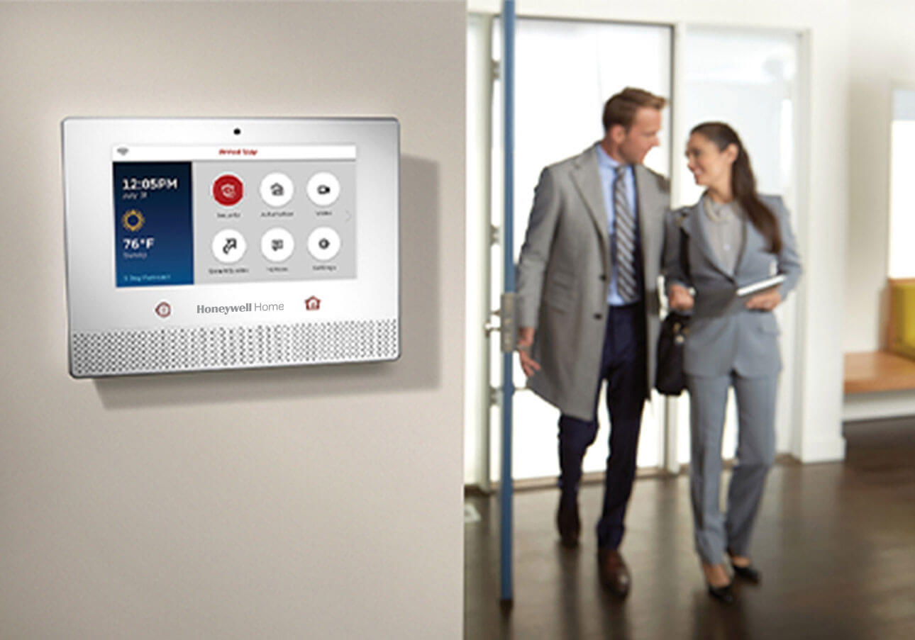 Use a smart home control panel to manage all aspects of your home security.