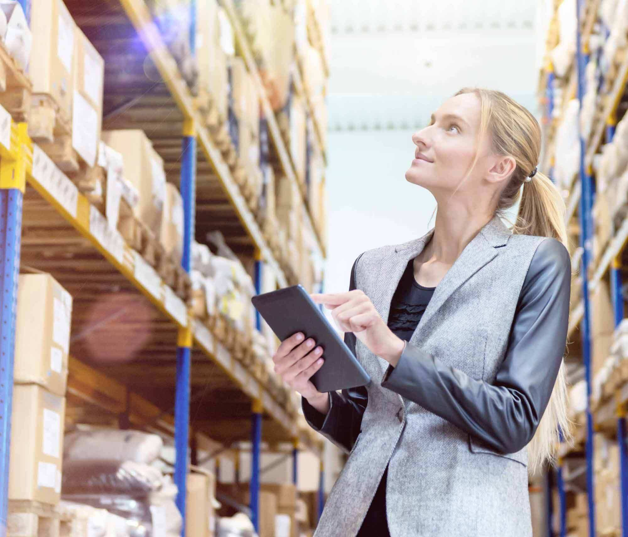 Forklift operating in distribution center smart home loyalty